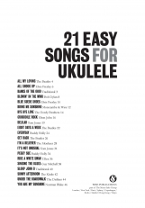 21 Easy songs for ukulele -nuottikirja