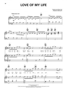Bohemian Rhapsody Soundtrack - Piano/Vocal/Guitar