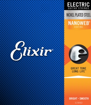 Elixir Nanoweb 09|42 Super Light sähkökitaran kielisarja