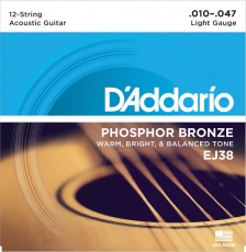 D'Addario XL EJ38 Light 12-String .010 -.047