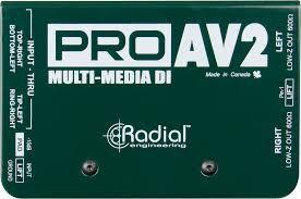 Radial ProAV2 Passive Stereo Multimedia DI Box